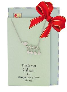 Amalia Mother's Day Gifts, Bird Necklace and Thank You Card #thankyougifts