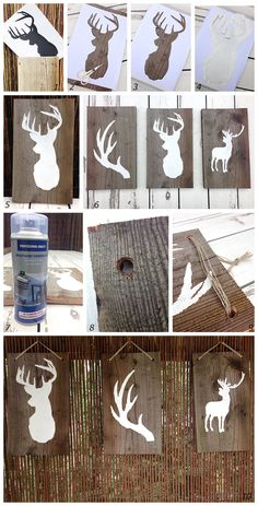 DIY Home and Garden; Deer on wood
