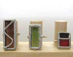 Willow Tree stained glass rings