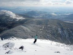 Sugarloaf Mt Maine~snowfields