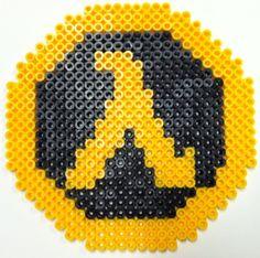 Perler Art: Half Life Logo by thewiredslain on DeviantArt