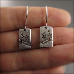Enchanted Forest Earrings - Mini Darkened Silver – Beth Millner Jewelry