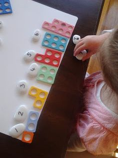 numicon- I can make these using punches to practice subitizing. Counting Activities Eyfs, Subitizing Activities, Maths Eyfs, Nursery Activities, Preschool Math, Kindergarten Math, Fun Math, Reading Activities, Preschool Ideas