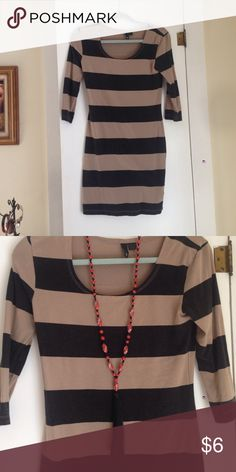 Slim fitted stripped dress! Great condition sexy date night,  booty poppin' dress size 6. You can pretty must rock this dress being any size though! Cute with boots and tights and or just your beautiful bare skin! Dresses Midi