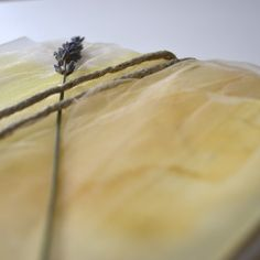 Louelle Design Studio Rochester, NY Yellow Watercolor Tulle Twine Wedding Invitation Lavender