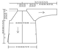 """Stonehenge Cardigan / DROPS Extra 0-1311 - Ylhäältä alas neulottu halkiollinen DROPS raglanjakku """"Cotton Merino"""" -langasta. Koot S-XXXL. - Free pattern by DROPS Design"""