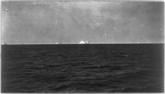 View from S.S. Carpathia of iceberg which supposedly sank the Titanic. (Library of Congress Prints and Photographs Division Washington, D.C.)