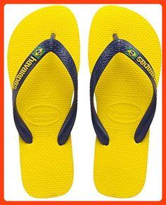 cf6d13fbdb98 Havaianas Brasil Logo Kids Citrus Yellow Rubber 31 32 BR   1 2 M