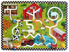 Anatex Farm Wall Panel by Anatex. $179.99. Self-contained. Wall mounting hardware included. Made in the United States. For ages 36+ months. From the Manufacturer                Take it back to the country with the Farm Wall Panel. Kids will adore the cute farm-themed artwork. To play they simply move the wooden farm animals around the track- grazing and traveling the farm. Featured are: wooden horse, cow, goat, rooster, sheep, duck and a pig which kids can move around to area...