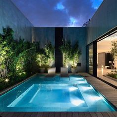 Small pool in house small pools plunge pool pool spa pool ideas outdoor spaces outdoor living . Luxury Swimming Pools, Luxury Pools, Swimming Pools Backyard, Swimming Pool Designs, Pool Landscaping, Small Backyard Pools, Backyard Pool Designs, Outdoor Pool, Small Pools