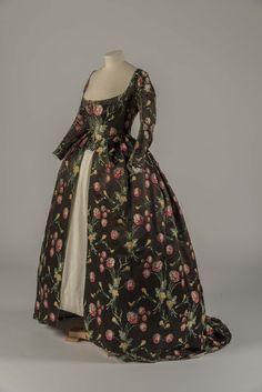 fripperiesandfobs:   Dress ca. 1748, altered ca....