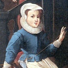 Portrait of a young lady in a 17th century jacket.