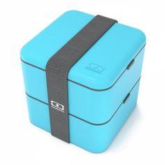 Monbento Square Bento Box, rechteckige Lunchbox, Türkis