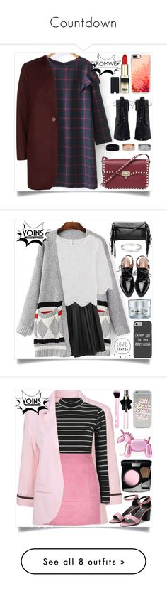 """""""Countdown"""" by hhanahong ❤ liked on Polyvore featuring Maje, Valentino, Zimmermann, L'Oréal Paris, Casetify, Disney, GlamGlow, yoins, yoinscollection and loveyoins"""