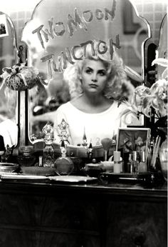"laurapalmerwalkswithme: "" Sherilyn Fenn in ""Two Moon Junction"", 1988 "" Sherilyn Fenn, Audrey Horne, Moonage Daydream, Nastassja Kinski, Laura Palmer, Sad Movies, Cinema, 90s Hairstyles, Chick Flicks"