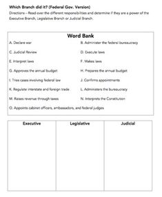 Worksheets. Separation Of Powers Worksheet. Justptctrusted Worksheets ...