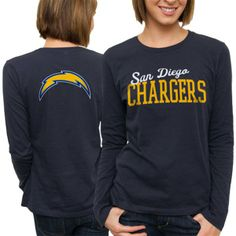 Men's San Diego Chargers Navy Blue All Time T-Shirt
