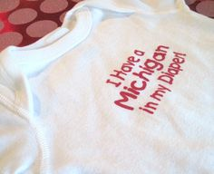 Ohio State onesie baby-board