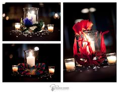 I am in love with these centerpieces...Thinking we'll change to masks & candles... <3