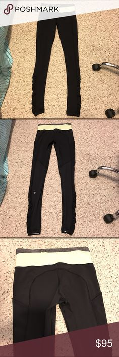 Lululemon speed tights These are amazing but I just never reach for them. They have pocket on the sides and mesh on the back of the legs. The material is luxtreme which i think is more breathable. Sz 4 willing to trade for high time or align pants! lululemon athletica Pants Leggings