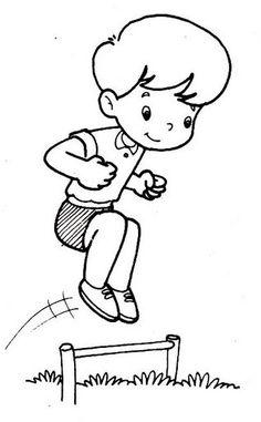 Bewegingskaart voor kleuters. Voor meer beweging zie: kleuteridee.nl Sports Coloring Pages, Coloring Pages For Kids, Coloring Sheets, Fun Math Worksheets, Children Sketch, Kids Gym, Sports Day, Diy Crafts For Gifts, Learn To Draw