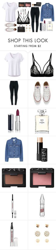 """""""Grunge #1"""" by lightbody-joanna on Polyvore featuring prAna, Converse, Givenchy, Chanel, MANGO, NARS Cosmetics, Benefit, Charlotte Russe and Burberry"""