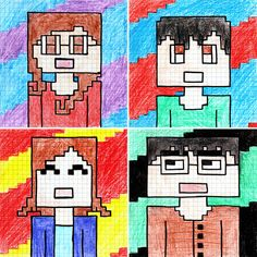 Let's draw a Minecraft Self-Portrait! Easy Drawings For Kids, Art For Kids, 6th Grade Art, Art Cart, Virtual Art, Classroom Crafts, Art Lessons Elementary, Science Art, Art Plastique