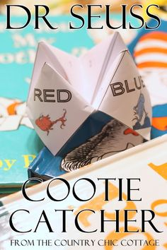 Dr Seuss Activity -- FREE Printable Cootie Catcher