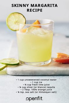Whether you're planning a Cinco de Mayo fiesta, birthday party, or just a fun night in, these skinny margarita recipes will keep the fun going, without following you to the scale! #healthymargarita #skinnymargarita #openfit