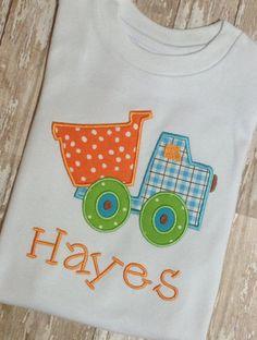 Dump Truck Embroidery Applique Shirt