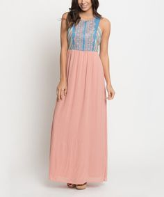Look at this Blush & Blue Sedona Embroidered Maxi Dress on #zulily today!