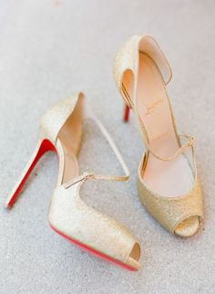 Gorgeous in gold Louboutins