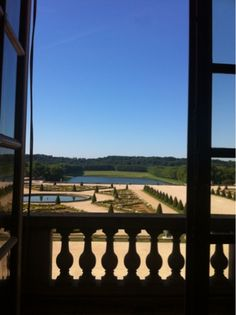 View from The Hall of Mirrors inside Le Chateau de Versailles, french for The Palace of Versailles, just outside Paris, France www.thebrighterwriter.blogspot.com