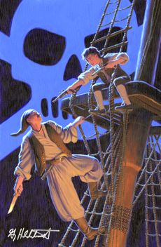 Marvel Illustrated: Treasure Island - Part Five (Issue) Treasure Island Movie, Pirate Art, Robinson Crusoe, Disney S, Beautiful Paintings, Art For Sale, Comic Art, Marvel Comics, Fantasy Art