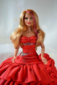 Barbie cake by Deborah Hwang Birthday Cake Kids Boys, Barbie Birthday Cake, Barbie Cake, Barbie Dress, Baby Birthday, Barbie Doll, Birthday Ideas, Twins Cake, Fairy Cakes