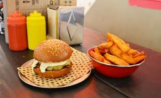Chur's burger in Sydney...just look at that sauce oozing out - YUM.
