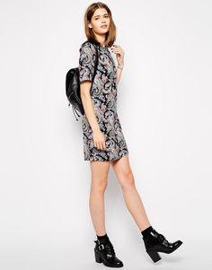 Image 4 - Glamorous Tall - Robe droite à imprimé cachemire