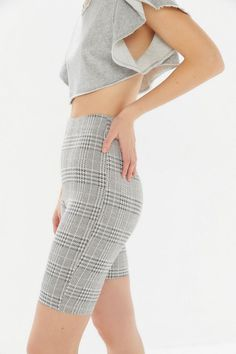 UO Plaid High-Rise Bike Short - $39 #theradicalblog #urbanoutfitters #spring #springoutfits Cycling Shorts, Spring Outfits, Fitness Models, Urban Outfitters, Thighs, Plaid, Bike, Skirts, Cotton