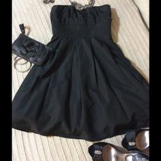 Charlotte Russe Cocktail dress - Size 3 Perfect LBD BY Charlotte Russe. Strapless black cocktail dress with a bit of crinoline on bottom. So girly and special!  Size 3 Charlotte Russe Dresses Strapless