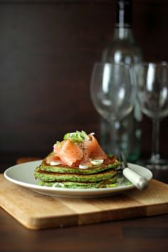 Spinach ricotta pancakes with salmon - The extra-ordinary dinner...