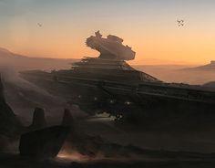 """Check out new work on my @Behance portfolio: """"Fallen Star Destroyer"""" http://be.net/gallery/32463357/Fallen-Star-Destroyer"""
