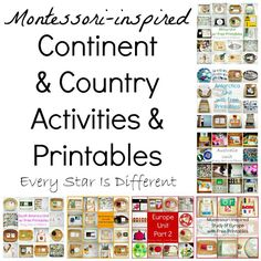 Every Star Is Different: Montessori-inspired Continent & Country Activities & Printables...