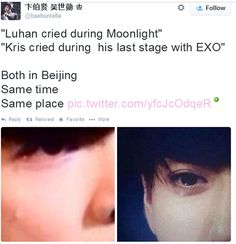luhan and kris moonlight same time crying - Google Search