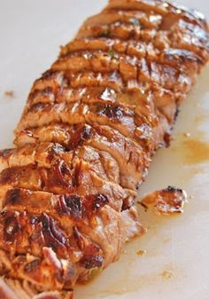 Pork Tenderloin - so good! The pan sauce is what it is all about. Dip your bread in it! (marinated in olive oil soy sauce red wine vinegar lemon juice Worcestershire sauce parsley dry mustard pepper and garlic).looks delish. Will definitely try. Pork Recipes, Cooking Recipes, Crockpot Recipes, Pork Meals, Chicken Recipes, Cookbook Recipes, Turkey Filet Recipes, Sauce Recipes, Gastronomia