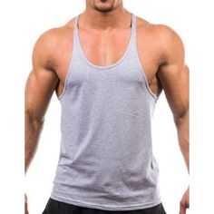 Men Summer Cotton Plain Gym Tank Top Sleeveless T-shirt Workout Bodybuilding Singlet Gym Tank Tops, Workout Tank Tops, Black Tank Tops, Workout Shirts, Outfit Gym, Gym Singlets, Stringer Tank Top, Training Fitness, Workout Fitness