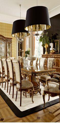 Amazing Ways to Choosing Dining Room Furniture - Homemidi Elegant Dinning Room, Luxury Dining Room, Beautiful Dining Rooms, Luxury Living, Dining Room Inspiration, Furniture Inspiration, Furniture Ideas, Dining Room Furniture, Dining Chairs