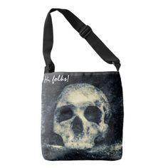 Halloween Horror Skull Crossbody Bag - trendy gifts cool gift ideas customize