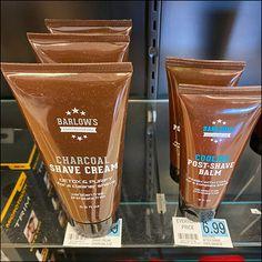 Shaving Supplies, Store Fixtures, Shaving Cream, Coffee Bottle, Glass Shelves, The Balm, How To Look Better, Shelf, Label