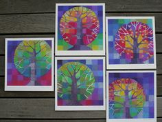 Little Trees Growing a set of five digital prints by StellaViolet