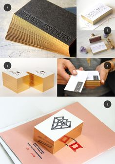 golden edge business cards / featured on discoverpaper.com